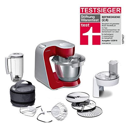 Bosch MUM5 MUM58720 CreationLine Küchenmaschine (1000 W, 3 Rührwerkzeuge Edelstahl, spülmaschinenfest, Rührschüssel 3,9 Liter, max Teigmenge 2,7kg,...