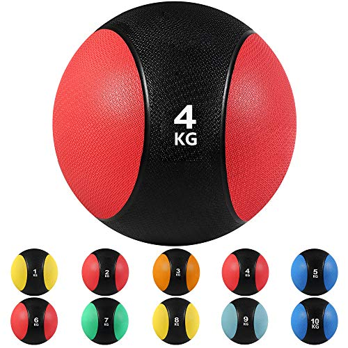 arteesol medicine balls, 1, 2, 3, 4, 5, 6, 7, 8, 9, 10 kg Grip Dead Weight Balls Perfect for strength and conditioning training, cardio and core workouts