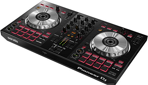 Pioneer DJ - 2 Channel DJ Controller for Serato DJ Lite - Mixer - DJ Accessories - Scratch Pad - Two Large Aluminum Jog Wheels