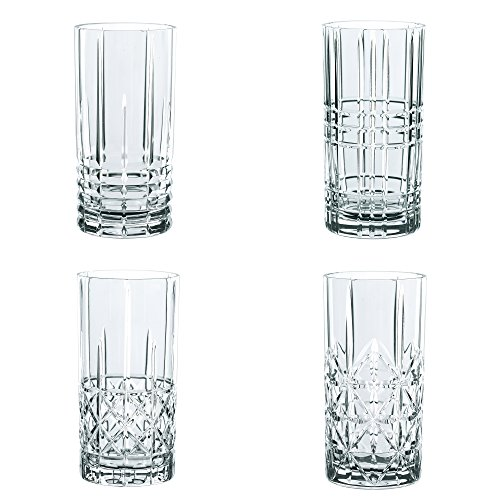 Spiegelau & Nachtmann, 4-teiliges Longdrink-Set, Kristallglas, 445 ml, Highland, 0097784-0