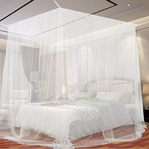 Moskitonetz, opamoo Fliegennetz Mückennetz Feinmaschiges Moskitonetz Großes Moskitonetz Quadratische Moskitonetze für Doppelbett und Einzel Bett Fliegennetz...