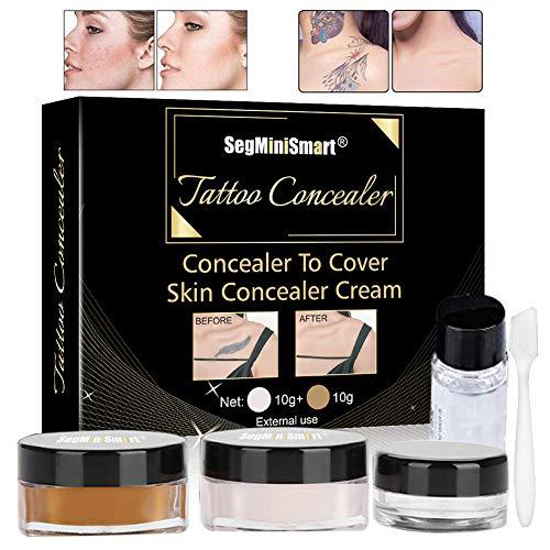 Tattoo Cover, Tattoo Concealer, Concealer, Tattoo Remover, Professional Waterproof Tattoos Cover Up Makeup Concealer Tattoo Scar Birthmarks Vitiligo Set