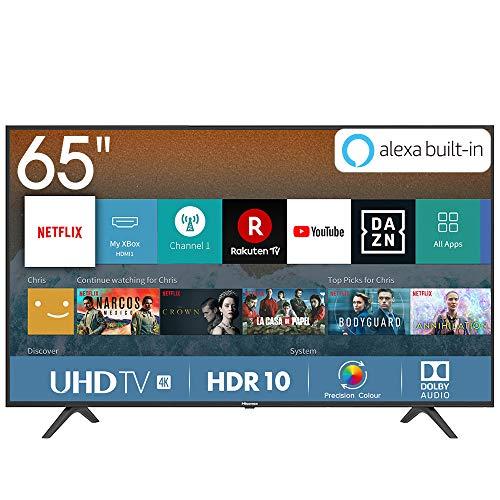 Hisense H65BE7000 165 cm (65 Zoll) Fernseher (4K Ultra HD, HDR, Triple Tuner, Smart-TV, Standard) [Modelljahr 2019]