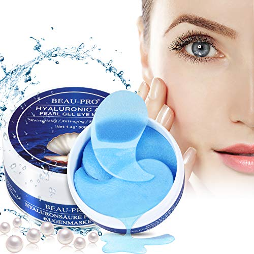 Eye Mask, Augenpads Anti Aging Pads hyaluron Collagen Maske-eye pads Kollagen Augenpads Gel Wasserlösliches mit Pearl powder und Hyaluronsäure für augenringe,...