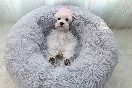 Segle Hundebett,Katzenbett,rutschfeste Unterseite,Runde Form,Weiches Donut-Haustierbett, luxuriöses Fell-Donut-Design,Verschiedene Größen,Flauschig,...