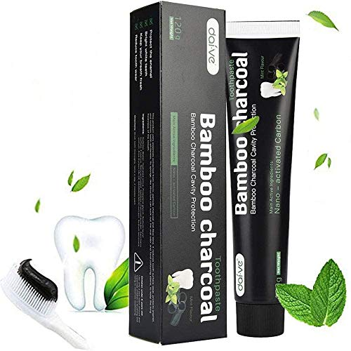 Ealicere-aktiivihiilen hammastahna - luonnollisten hampaiden valkaisu ja puhdistus -Bambuhiili musta hammastahna -valkoinen hampaat-bambuaktivoitu hiilen hammastahna valkoinen