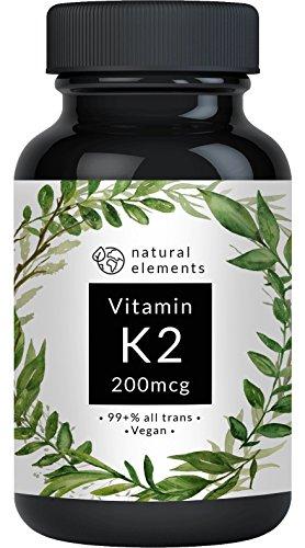 Vitamin K2 MK7 200µg - 365 Kapseln - Premium: 99,7+% All-Trans (K2VITAL Delta von Kappa) – Mikroverkapselt, hochdosiert, vegan, hergestellt in Deutschland