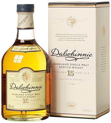 Dalwhinnie Highland Single Malt Scotch Whisky – 15 Jahre gereift – Aromen von Heidekraut und Honig – 1 x 0,7l
