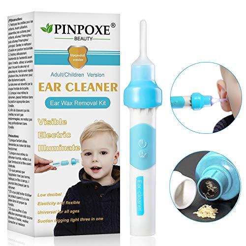 Ohrenreiniger, Ear Wax Cleaner, Ohrwachsentferner, Ohrenschmalz Entferner Ohrwachs Entfernungs Ohr Schmalz Reiniger mit 3 entfernbaren Silikon Aufsatzen,...