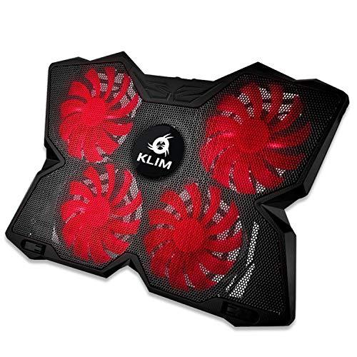 KLIM Wind Laptop Kühler - Leistungsstark Wie Kein Anderer – Schneller Kühlvorgang - 4 Lüfter PC Notebook PS4 - Belüfteter Laptop Ständer, Gamer Gaming...