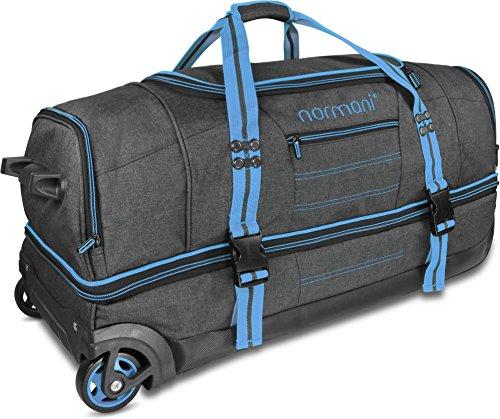 normani Reisetasche mit Rollen und großem Stauraum - mit Trolley-Funktion Farbe Blue Größe 90 Liter