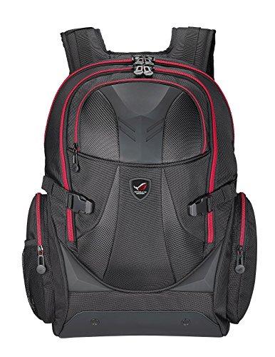 Asus ROG XRanger Rucksack (bis zu 17 Zoll, gepolstert, ergonomische Schultergurte) schwarz/grau