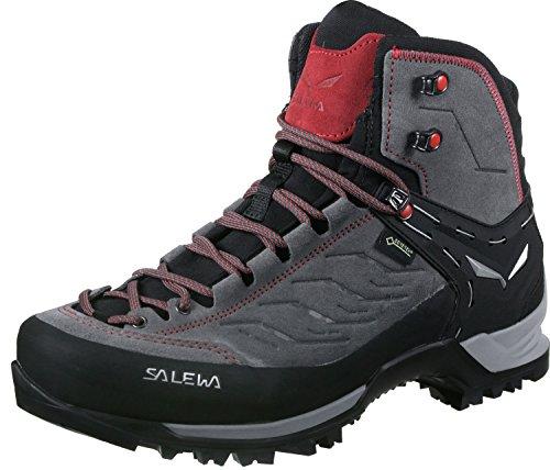 Salewa Herren MS Mountain Trainer Mid Gore-TEX Trekking-& Wanderstiefel, Charcoal/Papavero, 41 EU