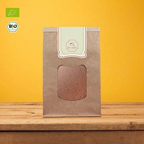 süssundclever.de Bio Carobpulver | 1 kg | Premium Qualität | 100% reines Naturprodukt | plastikfrei und ökologisch-nachhaltig abgepackt