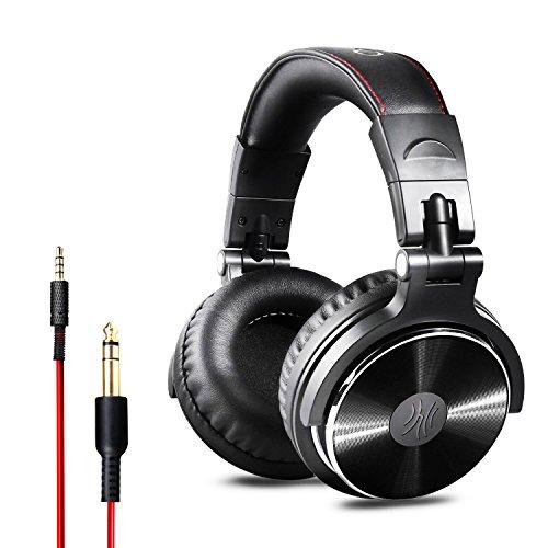 OneOdio DJ Kopfhörer, Studiokopfhörer, Over-Ear Headset, Adapter-frei Geschlossener Headphone 6,3mm & 3,5 mm Stereo/Studio Monitor & Mixing/Teleskoparme mit...