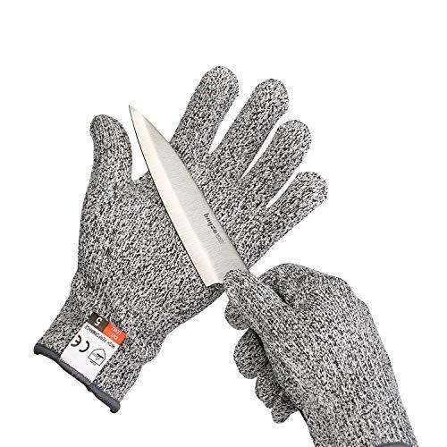 Yizhet Schnittschutz-Handschuhe Extra Starker Level 5 Sicherheitshandschuhe Arbeitshandschuhe-für Küche, im Garten, im Beruf Schneiden Schutz (Größe L)