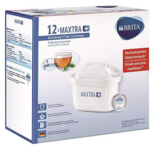 BRITA Filterkartuschen MAXTRA+ im 12er Pack – Kartuschen für alle BRITA Wasserfilter zur Reduzierung von Kalk, Chlor & geschmacksstörenden Stoffen im...