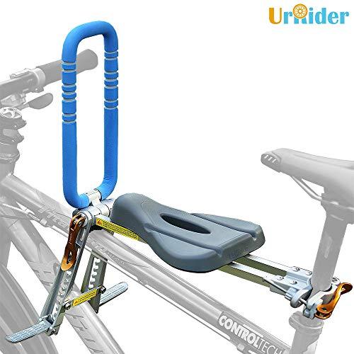 UrRider Kinderfahrradsitz, Fahrradkindersitz für Kleinkinder, Faltbarer und ultraleichter Baby-Kinderfahrradträger-Handlauf für Mountainbikes, Hybridbikes und...