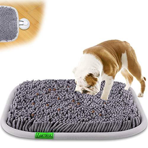 LAMTWEK (17' x 21' Schnüffelteppich Hunde Intelligenzspielzeug, Schnüffelteppich Hund Waschbar,Riechen rutschfest Hundespielzeug Schnüffelspielzeug,Intelligenz...