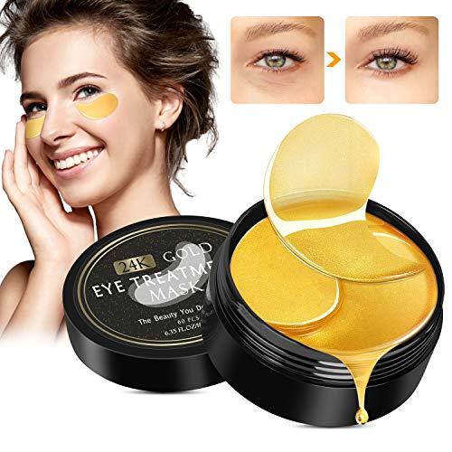 Augenpads, Eye Mask, Collagen Augenpads, 100% Natürlich, Anti aging Augenpads, 24k Gold Kollagen Augenpads, Feuchtigkeit Spendende, Entfernt Augenringe,...