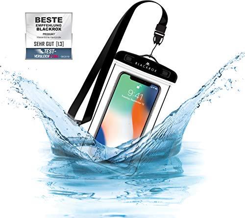 BLACKROX wasserdichte Handyhülle - Handyschutz Wasserfeste Handytasche Cover Beutel Beachbag Tasche Handy Hülle Waterproof Case iPhone X/XS 8 7 6s Samsung S10 S9...