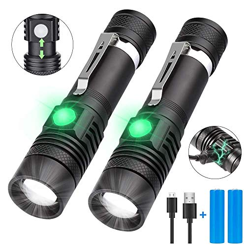 Flashlight LED USB Rechargeable, Karrong Zoom Waterproof 4 Modes LED Flashlights for Outdoor Camping