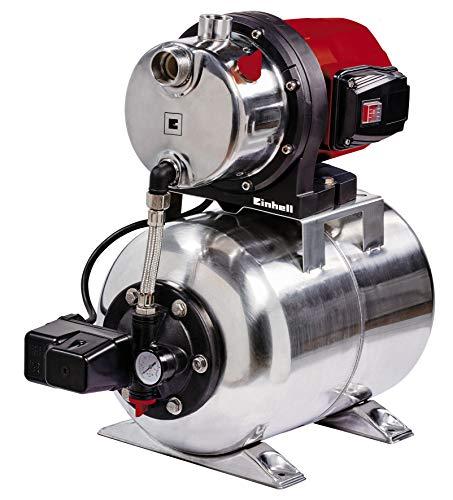 Einhell Hauswasserwerk GC-WW 1250 NN (1200 W, max. 5 bar, 5000 L/h Fördermenge, max. 50 m Förderhöhe, wartungsfreier Motor, Wasserablassschraube, 20 L...