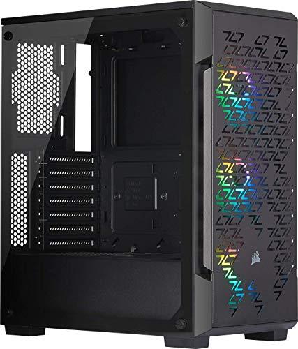 Corsair iCUE 220T RGB Airflow Gehärtetes Glas Mid-Tower ATX Smartes Gaming Gehäuse, schwarz