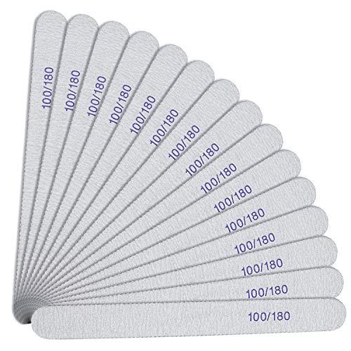 URAQT Nagelfeilen, 15 Stück Nagelfeile Set, Doppelseitige Einweg 100/180, Buffer Block Boards, Nagelfeilen atürliche Nägel und Gelnägel Verschleißfest Waschbar...