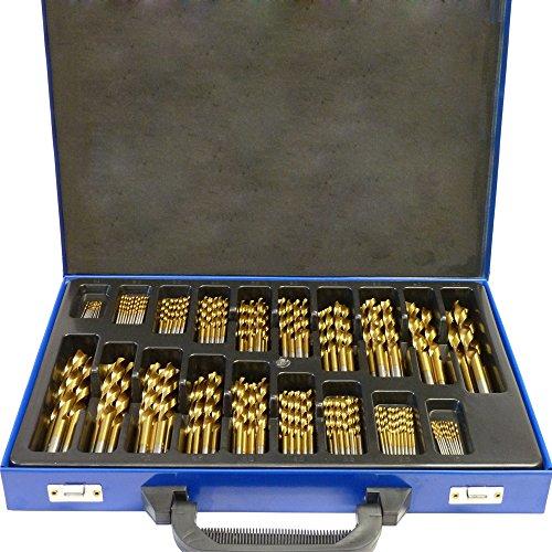 SAILUN Metallbohrer Set 170-teilig Metallbohrersortiment HSS geschliffen, Split Point Handbohrmaschine Profi-Steinbohrersatz Bohrer Set Spiralbohrer Bohrersets (170...
