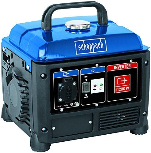 Scheppach Inverter Stromerzeuger 1200W (Notstromaggregat mit 5h Laufleistung, 4,2L Tank) - 230V Anschluss geeignet fr empfindliche Gerte wie Ladegerte, Laptops etc....