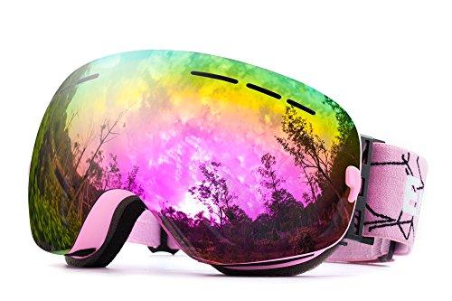 OTG REVO Ski-Brille Anti-Beschlag, UV-Schutz, Snowboard-Brille für den Schnee, Snowboard, Snowmobile, Skateboard, Motorrad, Reiten, Schneebrille für Männer,...