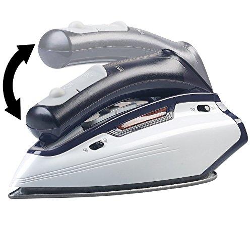 Sichler Haushaltsgeräte Reisebügeleisen: 2in1-Reise-Dampfbügeleisen mit klappbarem Griff, 1.150 W, 110/230 Volt (Reise-Dampf-Bügeleisen)
