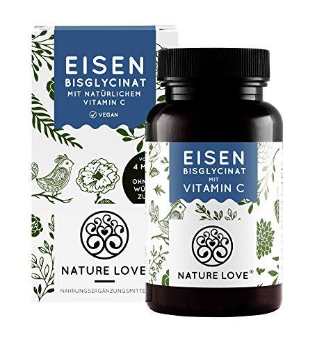 Eisen mit 40mg natürlichem Vitamin C - Mehrfacher Sieger 2020* - Doppelt-dosiert mit 40mg Eisen/Tablette - Hoch bioverfügbares Eisen-Bisglycinat - Laborgeprüft,...