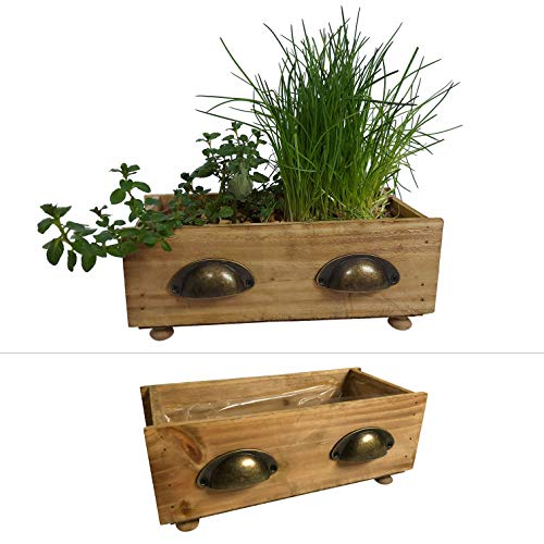 2 Schubladen zum Bepflanzen im Set - Blumentopf für Kräuter und Blumen, Blumenkasten