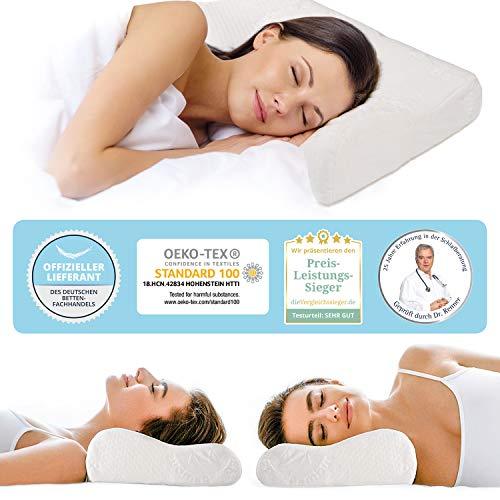 daydream ortopedinen kohdunkaulan kaulan tukityyny - sängyn tyyny nukkumistyyny, valmistettu muistivaahdosta 50 x 35 x 9,5 / 11 cm (P-16200)