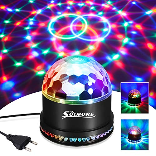 LED Discokugel, SOLMORE 51LEDs 12W 7 Farben Discolampe Partyleuchte RGB Lichteffekt Bhnenbeleuchtung Party Licht Deko