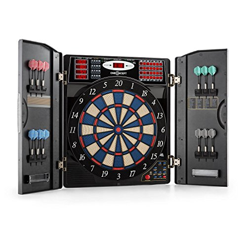 OneConcept Masterdarter - dart machine, electronic dart board, e-darts, game computer, 38 different games, 211 game variants, up to 16 players, virtual ...