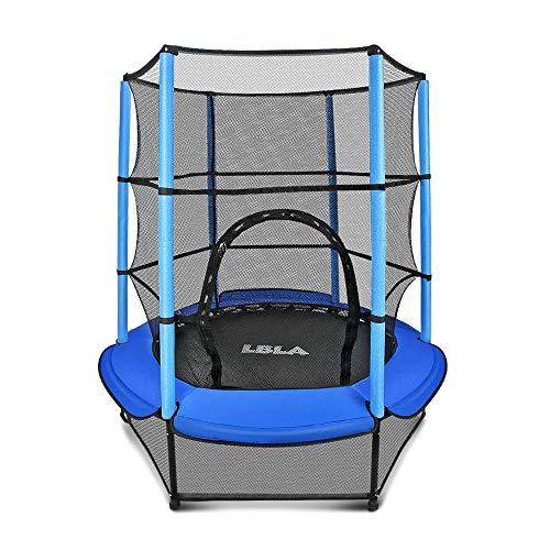 LBLA Trampolin Kinder Ø 140 cm Indoortrampolin Jumper mit Sicherheitsnetz, Randabdeckung Kindertrampolin Gartentrampolin Außentrampolin für Junge Mädchen ab 4 5...