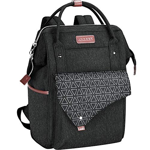 KROSER Rucksack Damen für Schule Laptop Rucksack 15,6 Zoll(39,6cm) Schulrucksack Stylischer Daypack wasserdichte mit USB-Ladeanschluss Tablet für...