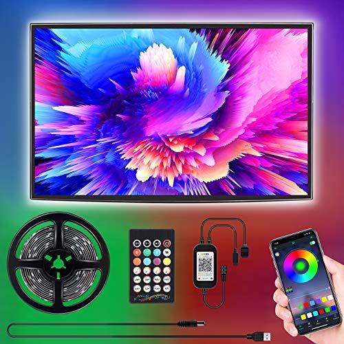 Led TV Hintergrundbeleuchtung, SUNGYIN 3M USB Led Beleuchtung mit Fernbedienung Und DIY Farbwechsel RGB LED Streifen für 46-60 Zoll HDTV,TV,PC Bildschirm [Energy...