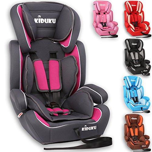 KIDUKU Autokindersitz Kindersitz Kinderautositz, Sitzschale, universal, zugelassen nach ECE R44/04, in 6 verschiedenen Farben, 9 kg - 36 kg 1-12 Jahre, Gruppe 1/2 /...