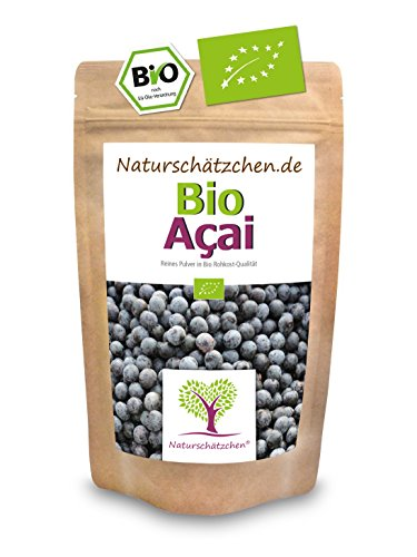 Bio Acai Pulver (Acaipulver) in geprüfter Bio-Qualität (DE-ÖKO-022) - Bio Superfood (1x 100g)