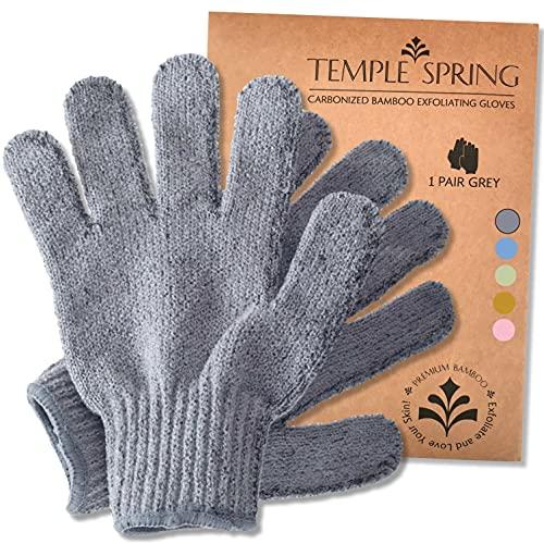 Peelinghandschuhe, Bambus Peeling Mitt, Bade- / Duschpeeling, Körperpeeling Handschuhe, Beauty Peelings/Luffa, eingewachsenes Haar/Entferner für abgestorbene Haut,...