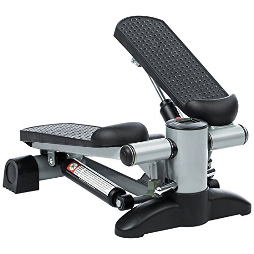 Ultrasport Up-Down-Stepper, Mini-Fitnessgerät inkl. Trainingscomputer mit vielen Funktionen, Fitnesstraining für Zuhause, Heimtrainer, Swingstepper für Bein- und...