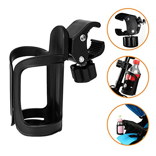 AOBETAK Bottle Holder Bicycle, 360 Degree Rotation Without Screws Bike Cup Holder For Drinking Bottle Baby Bottles Fit Bikes, Mountain Bikes, Strollers and ...