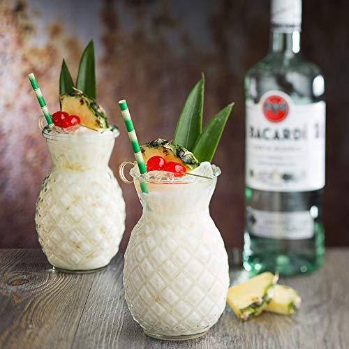Utopia R90202-00000-B01006 Hawaii-Tiki-Cocktailgläser, 520 ml, 6 Stück, Ananas-Tikigläser