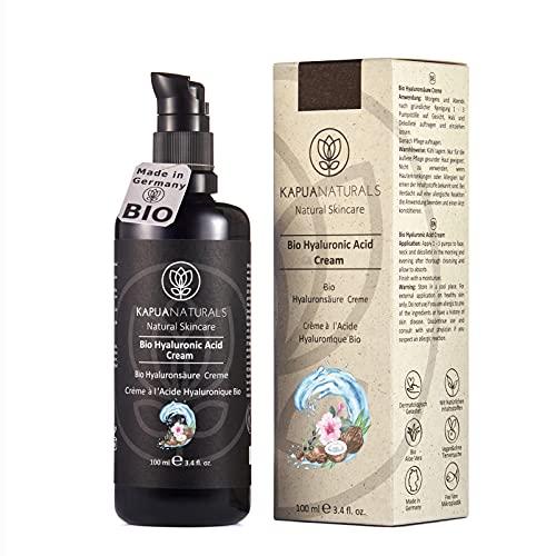 BIO Hyaluron Creme - 100 ml 9-FACH Anti Aging Creme m. Hyaluronsäure   Hyaluron Gesichtscreme   Feuchtigkeitscreme Gesicht von Kapua Naturals   Tagescreme und...
