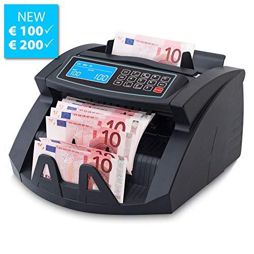 Stückzahlzähler Geldzählmaschine Euro Geldscheine SR-3750 LCD UV/MG/IR von Securina24 (Schwarz - LCD)