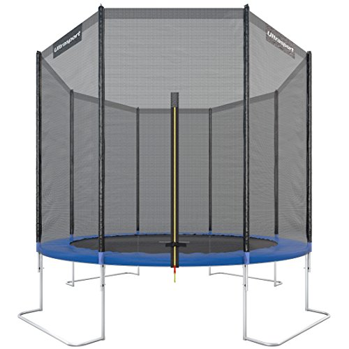 Ultrasport outdoor garden trampoline jumper, trampoline complete including jumping mat, safety net, padded net posts and edge cover, up to 160 kg, ...